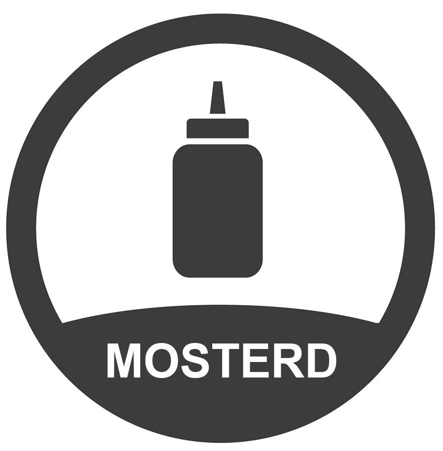 bevat_mosterd_sticker